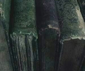 slytherin, harry potter, and books image
