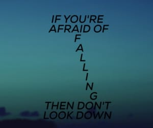 afraid, background, and down image