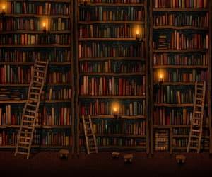 art, bookshelves, and bookshop image