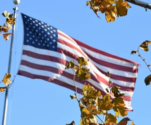 american flag, blue, and flags image