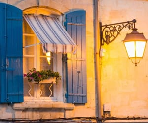 window, blue, and france image