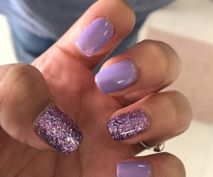 lavender, nails, and purple image