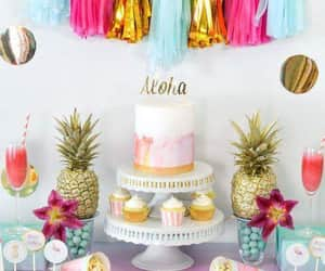 cake, party, and hawaian image