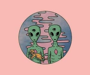 pink, alien, and tumblr image