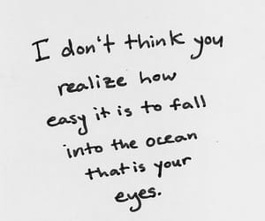 quotes, eyes, and ocean image