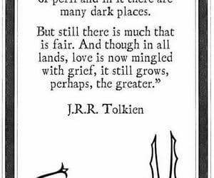 dark, jrr tolkien, and worlds image
