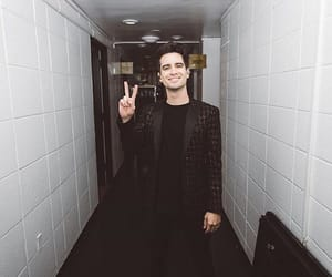 aesthetic, black and white, and brendon urie image