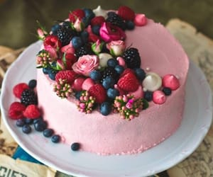 berry, cake, and cream image