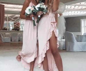 dress, friend, and girl image