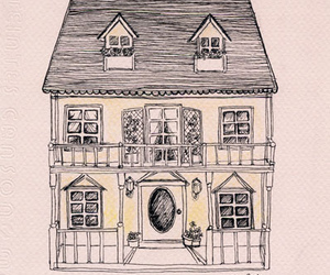 house, illustration, and drawing image