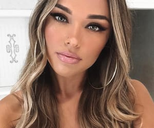 girl, long hair, and make up image