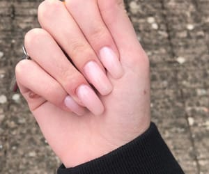 light pink, nails, and pink image