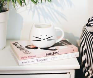 book, mug, and girl boss image