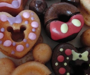 chocolate, disney, and donuts image