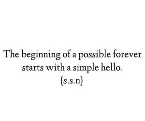 love, hello, and quotes image