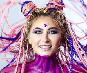 braids, pink braids, and box braids image