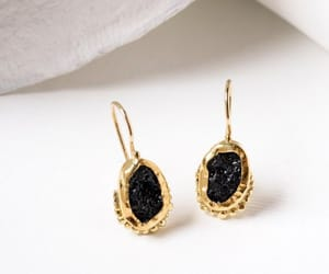 etsy, gemstone earrings, and gold dangle earrings image