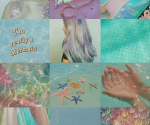 blue, mermaids, and sereias image
