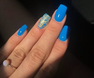 blue, manicure, and summer image