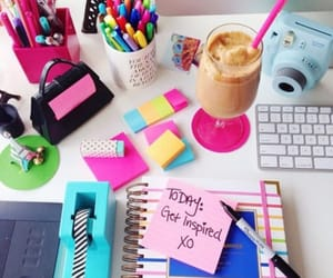 school, pink, and study image