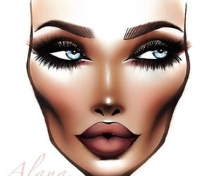 mac face drawing, face-chart, and face chart image