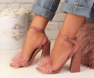 blonde, pink, and shoes image