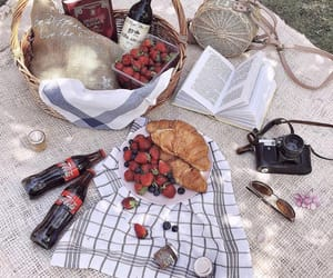 croissants, picnic, and berries image