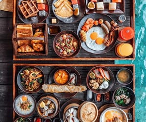 food, breakfast, and family image