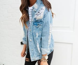 blue, denim, and girl image