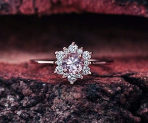 etsy, engagement ring, and morganite ring image