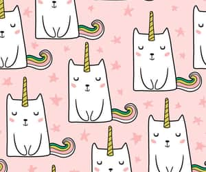 cat, pattern, and caticorn image