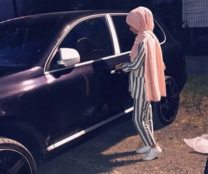 cars, girl, and hijab image