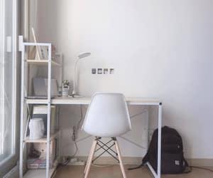 bedroom, design, and desk image