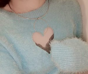 blue, fashion, and heart image