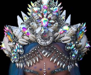 crown, mermaid, and fashion image