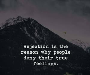 black and white, quote, and rejection image