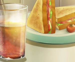 anime, food, and sandwich image