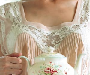 beautiful, flowers, and tea cup image