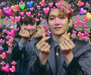 byun baekhyun, reaction pics, and suho sehun image