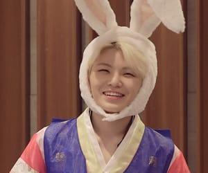 bunny, jihoon, and seventeen woozi image