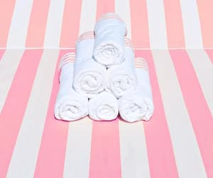photography, beach towel, and pink and white image
