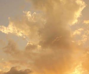 sky, aesthetic, and yellow image