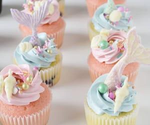 beach, birthday, and cupcake image