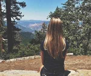 blonde, travel, and girl image