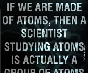 atom, scientist, and science image