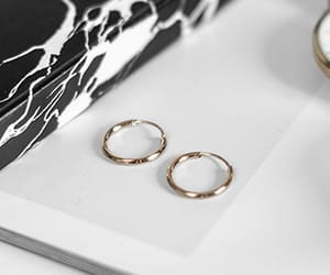 circle, gold, and earrings image