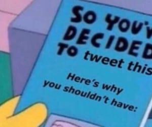 simpson's, tweet, and twitter image