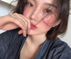 korean girl, pretty girl, and site model image