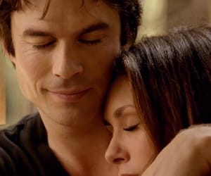 love, Nina Dobrev, and damon salvatore image