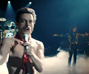 actor, Freddie Mercury, and gif image